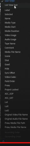 در کنار نوار تغییر اندازه فایلها، یک گزینه وجود دارد. در پریمیر